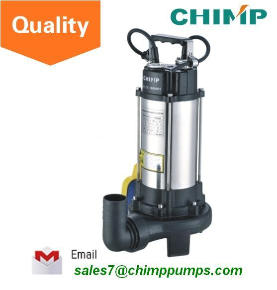 1.5HP Stainless Steel Cutting Impeller Sewage Submersible Electric Pump