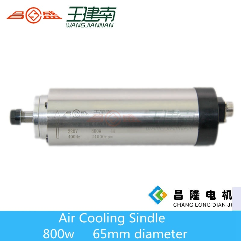 800W 65mm Diameter Air Cooling CNC Router Spindle for Wood Carving