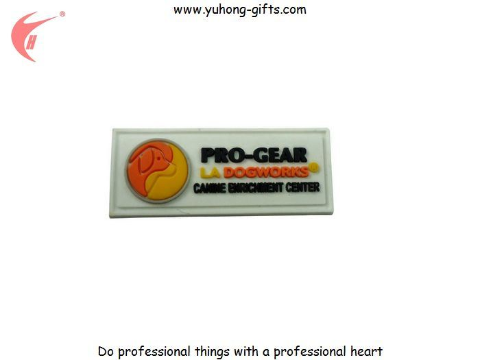Soft PVC Rubber Label Tag Sew on T-Shirt Used for Garment (YH-L004)