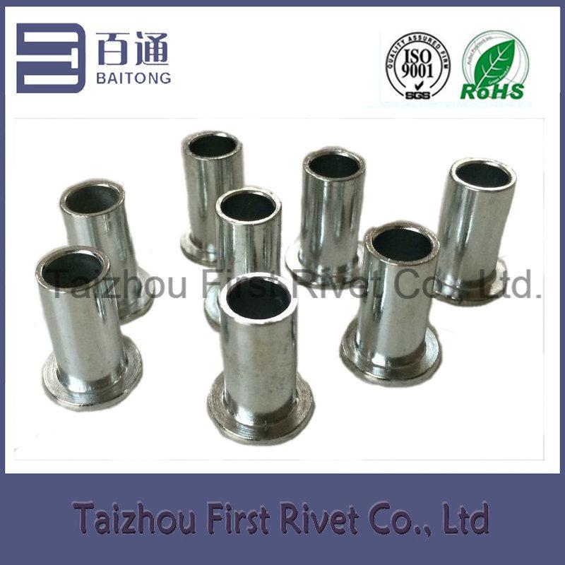 8X16mm Zinc Plated Flat Head Full Tubular Steel Rivet