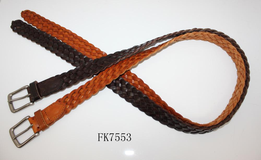 Women Genuine Leather Belt Fashion Accessory Braid Waist Belt for Ladies