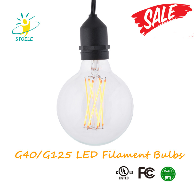 G40/G125 Dimmable Edison LED Bulb E26/E27/B22 Energy Saving