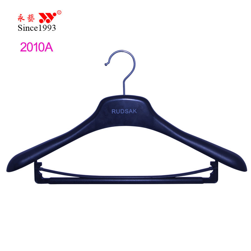 Red Logo Printed Rubber Coating Hanger for Women Clothes