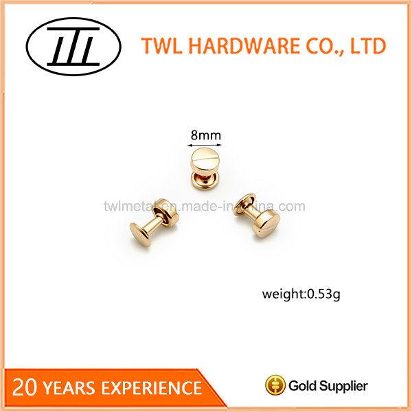 8mm Light Gold Iron Rivet for Bag