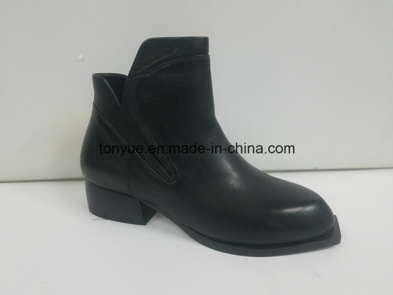 Lady Leather Brush Color Restoring Ancient Ways Pointed Short Boots