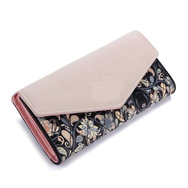 Fashion Beautiful New Design Long Women′s Wallet with Pattern