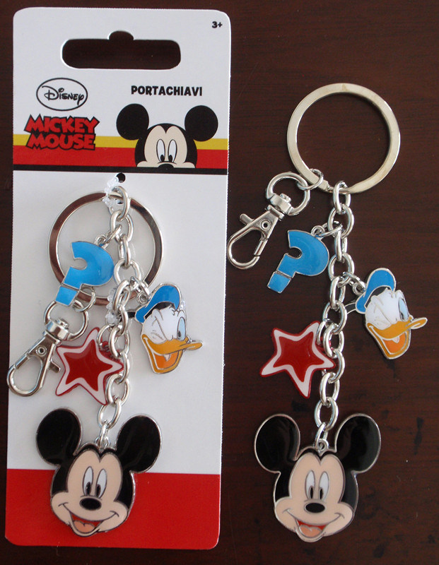 Alloy Minnie Key Chains Rings Customerized Mickey Enamel Keyrings Portachiavi
