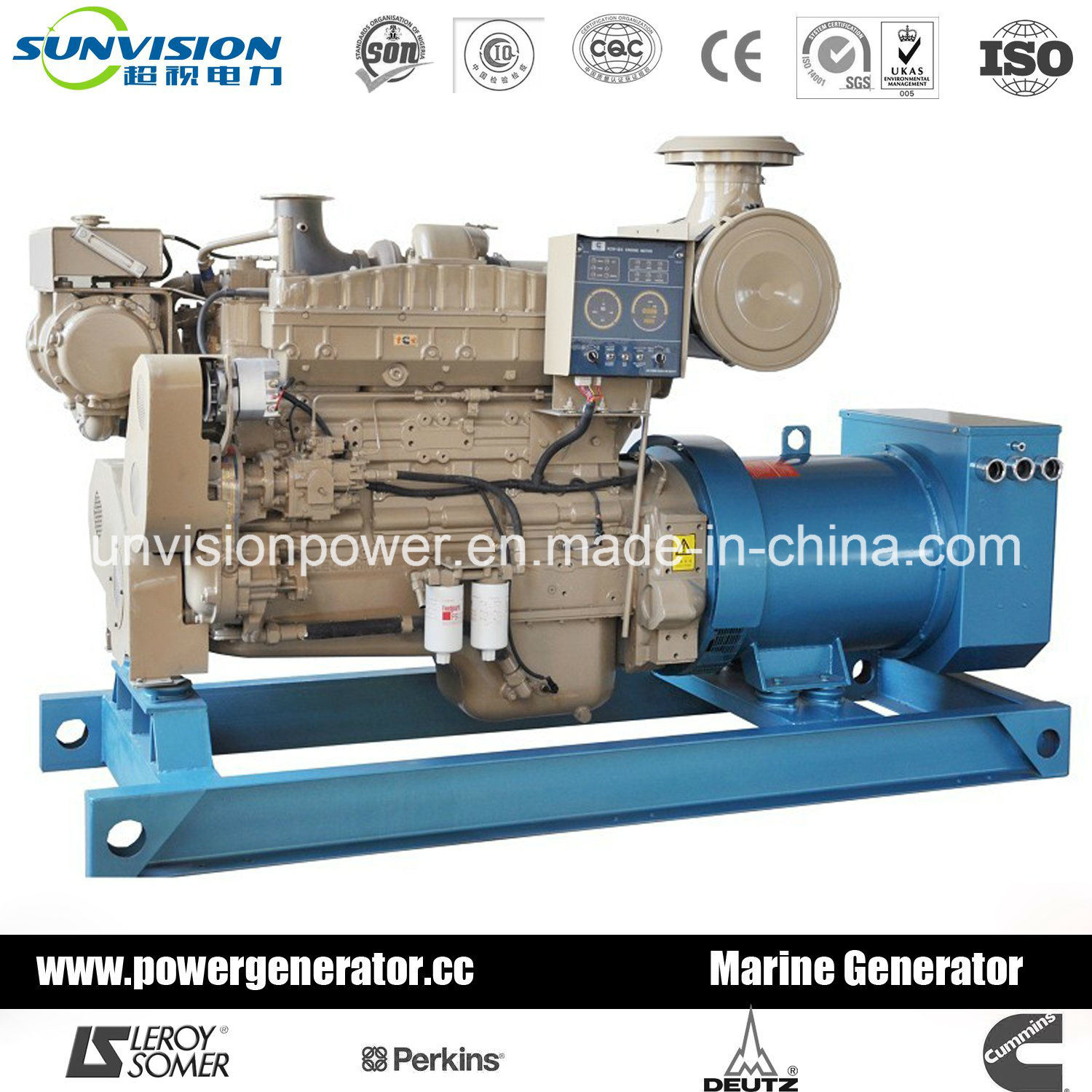 Prime 350kVA Diesel Generator Set, Cummins Marine Engine with Nta855-Dm