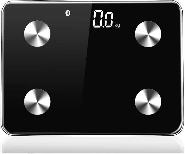 Glass Large LCD Digital Display Bluetooth Electronic Bathroom Scale