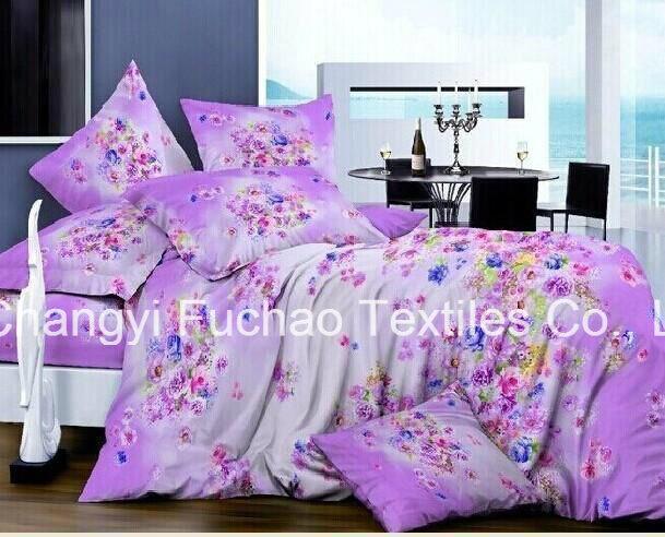 Microfiber Plain Dyed Cheap Bed Sheet Set Bedding Set Home Textile