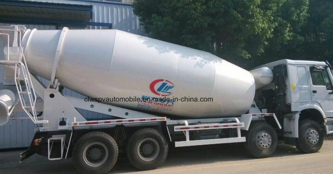 12 Wheel Sinotruk 16 Cubic Meters Cement Mixer Truck