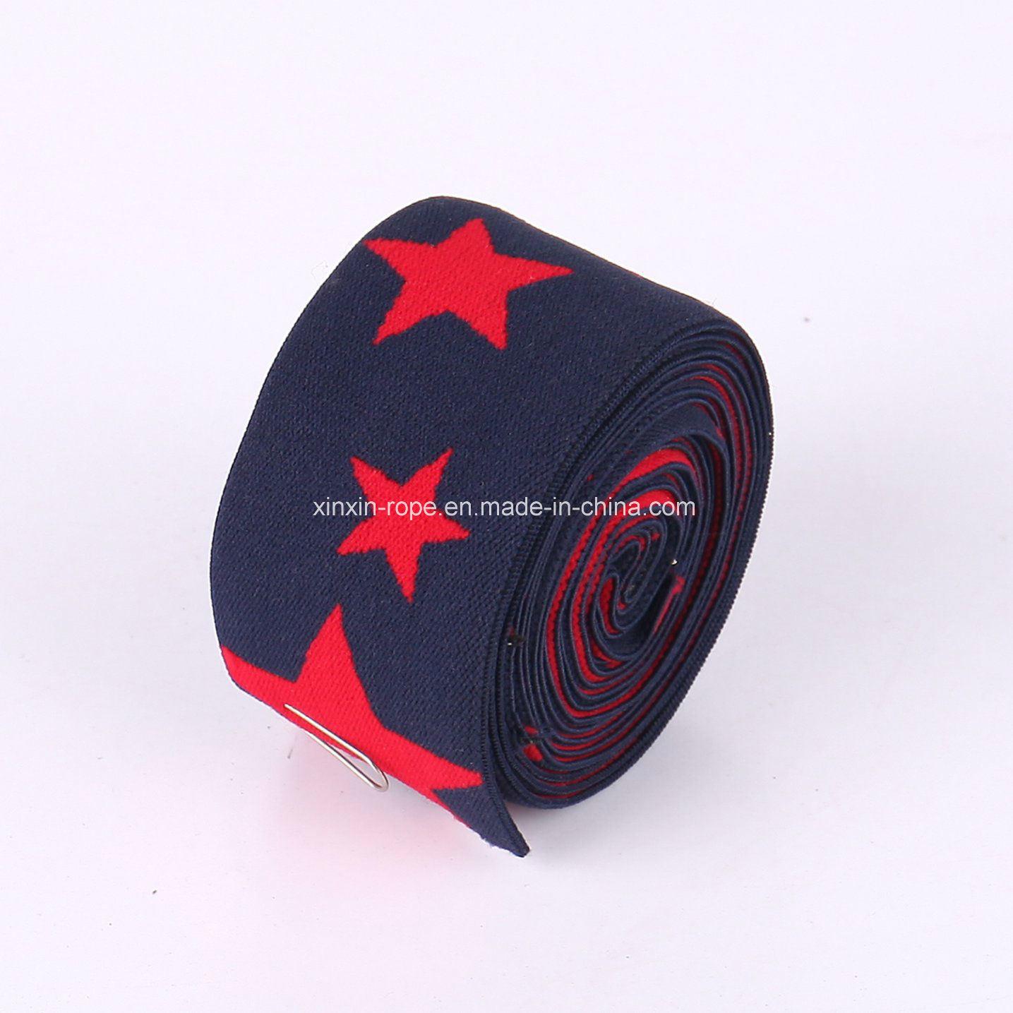 Nylon Star High Elastic Soft Braided Woven Jacquard Webbing