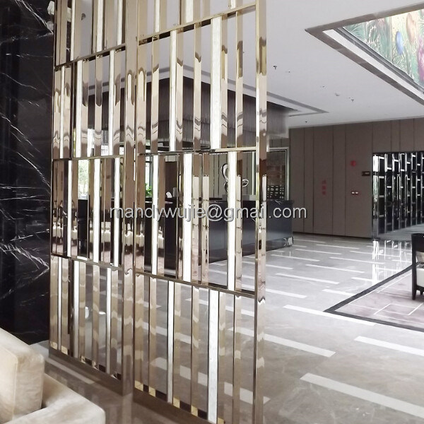 Customized Decorative Stainless Steel Restaurant Room Partition Screen