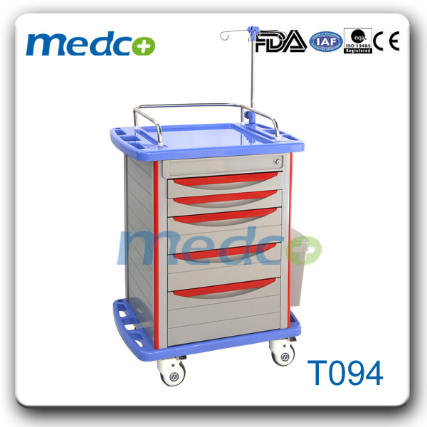 Hospital Medical ABS Emergency Trolley