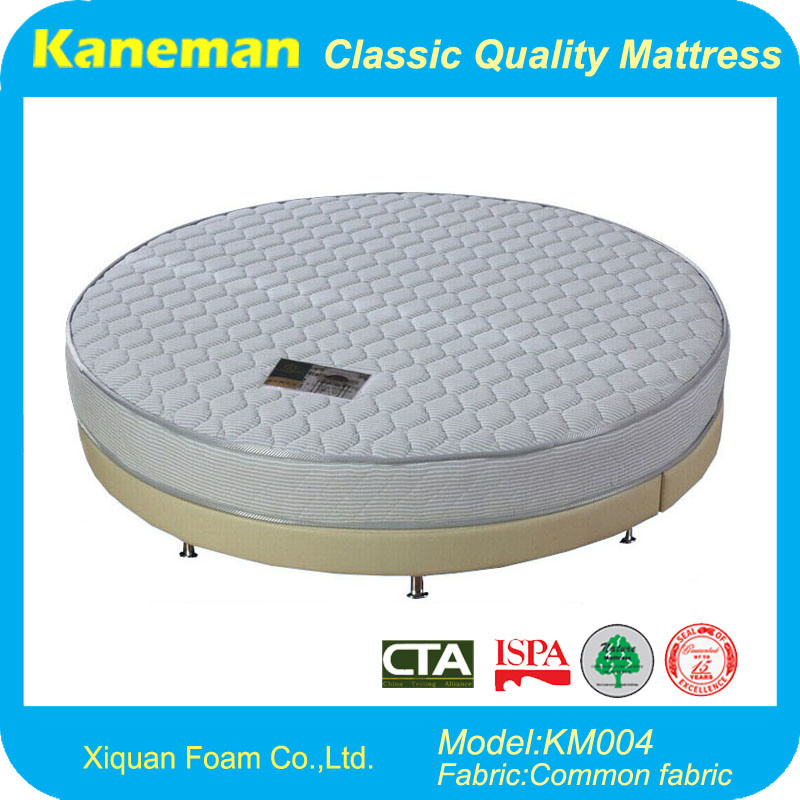 Hotel Furniture Round Bed Mattress and Bedbase