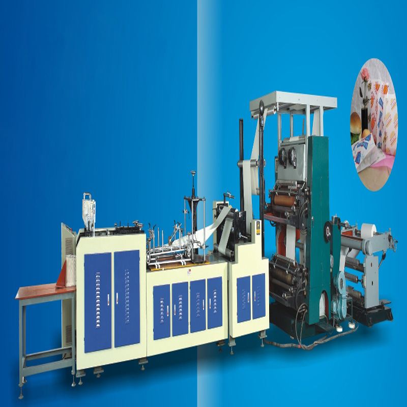 Automatic Paper Bag Making Machine with Printing Press
