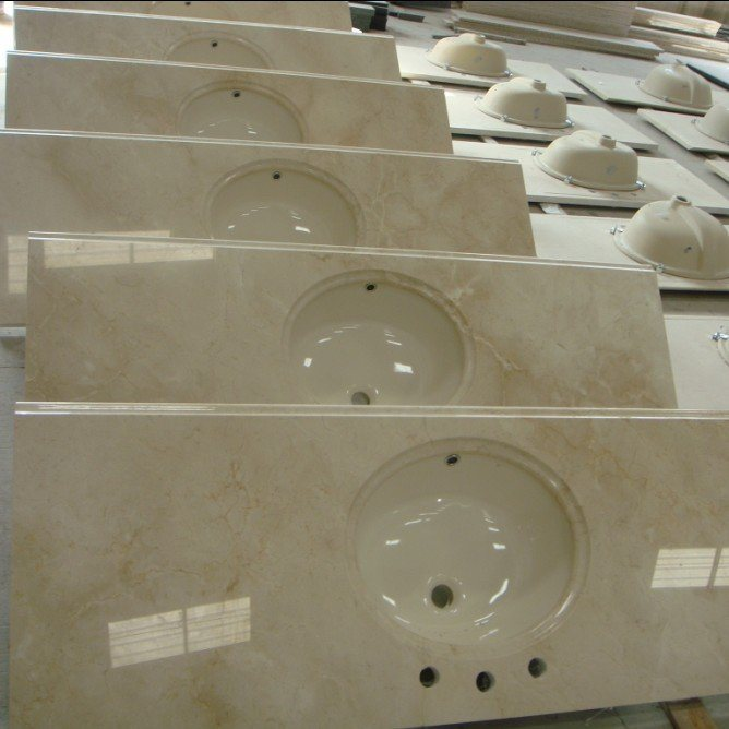 ... Marble Vanity Tops With Upc Ceramic Sinks - China Countertop, Vanity