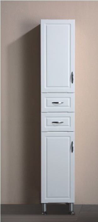 China Practical Free Standing White Color Mdf Bathroom Storage Cabinet Bl V402 China