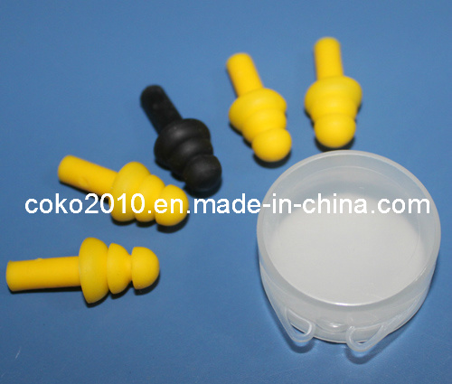 Tree Shape Silicone Earplug with Circle Box