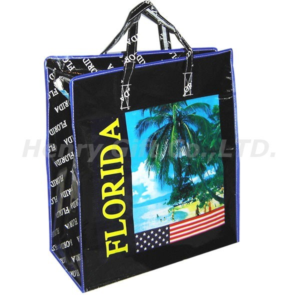PP Woven Travel Promotional Shopping Hand Bag (HR-PB016)