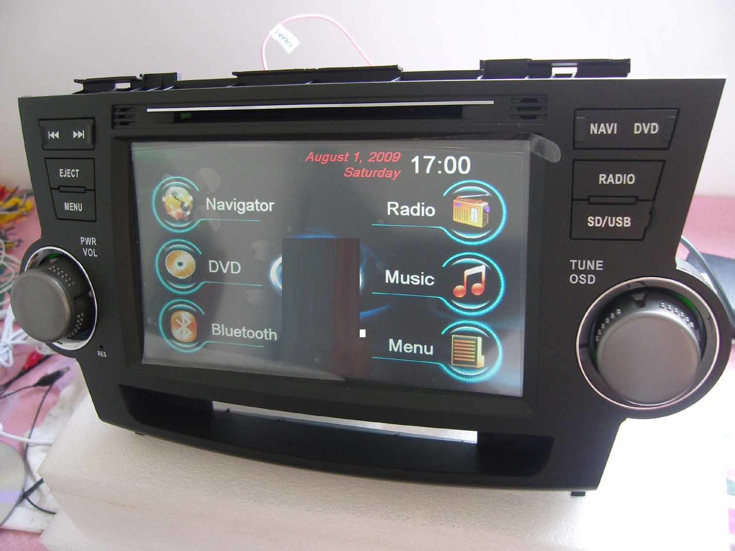 China Car Dvd Gps Navigation Stereo Audio Radio For Toyota