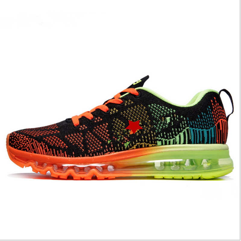 2017 New Running Shoes, Breathable Flyknit Sport Shoes, Zapatos