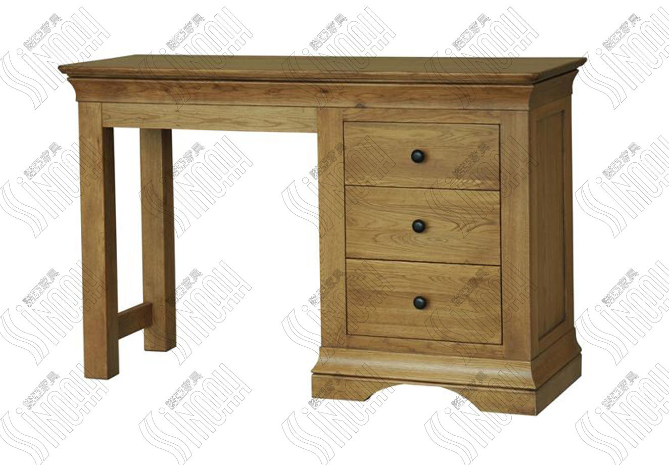 China single pedestal dressing table wooden dressing table for Single dressing table