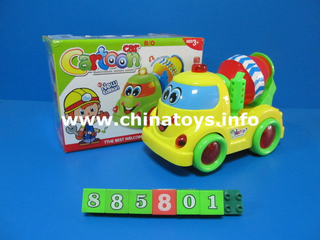 Battery Operated Cartoon Car Toy with Music & Light (877501)