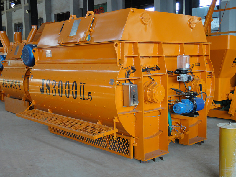 3000L Twin Shaft Concrete Mixer (Js3000II)