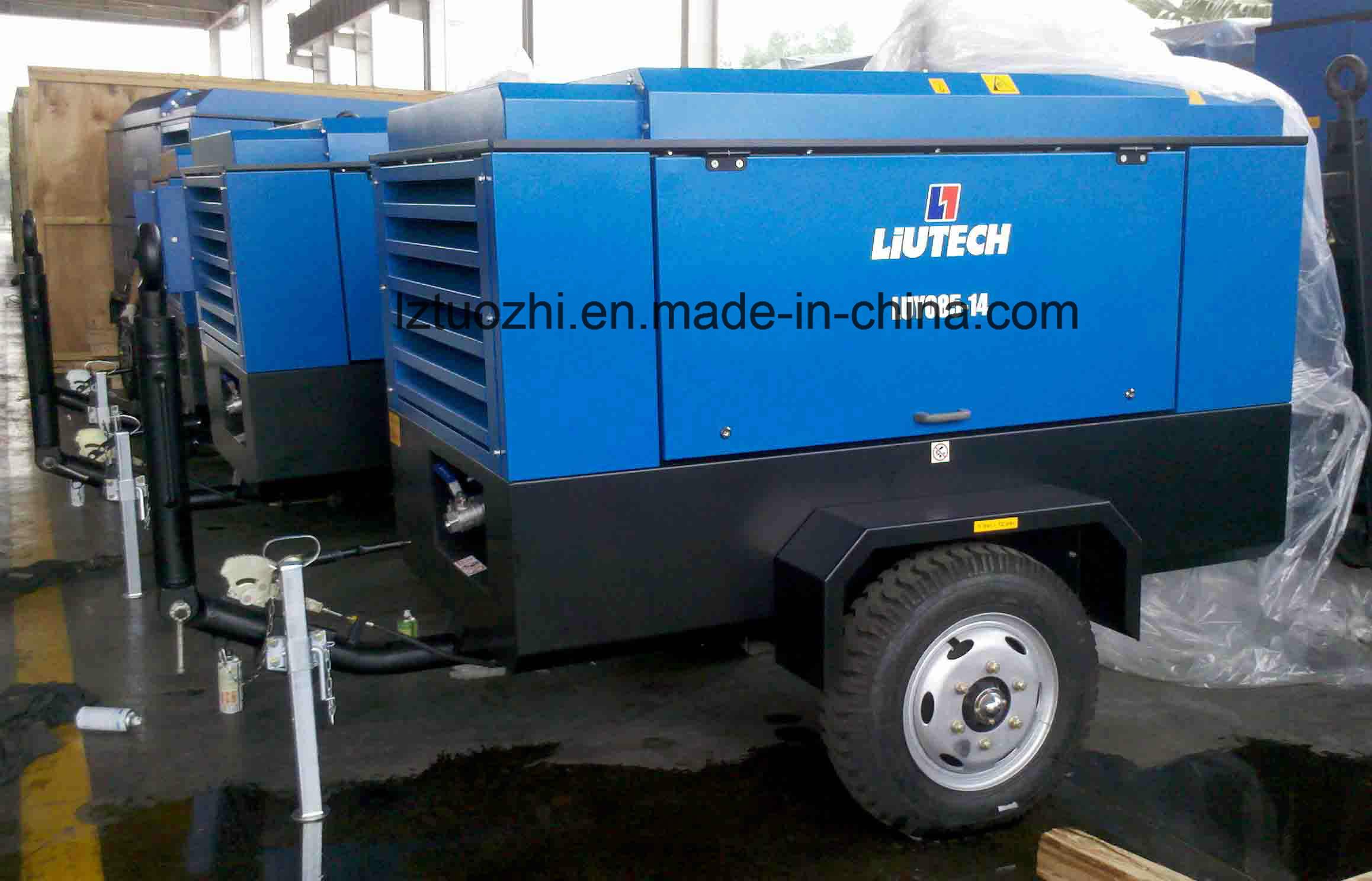 Atlas Copco Liutech 424cfm 7bar Portable Diesel Screw Air Compressor