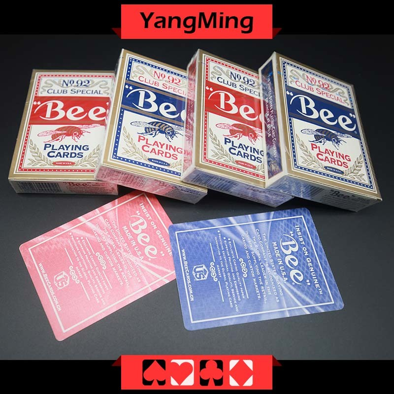 United States Bee Dedicated Casino Poker Playing Card for Casino Gambling Games with Red and Blue Color (YM-PC01)