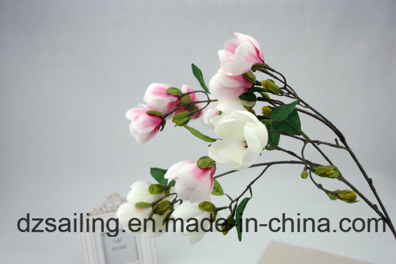High Quality Decoration Artificial Flower of Magnolia Spray (SW04802)