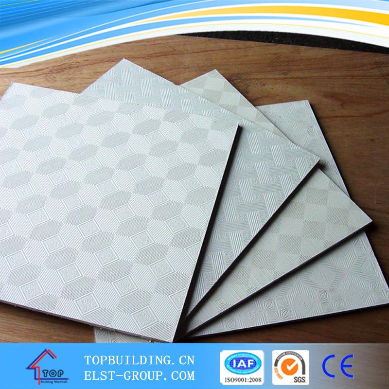 PVC Laminated Gypsum Ceiling Tile/PVC Gypsum Ceiling Tile/Gypsum Ceiling Board/Gypsum Ceiling/Standard Gypsum Board/Gypsum Board