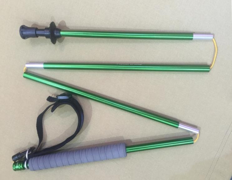 Super Light 4 Section Foldable Fast Lock Trekking Stick (MW1054)