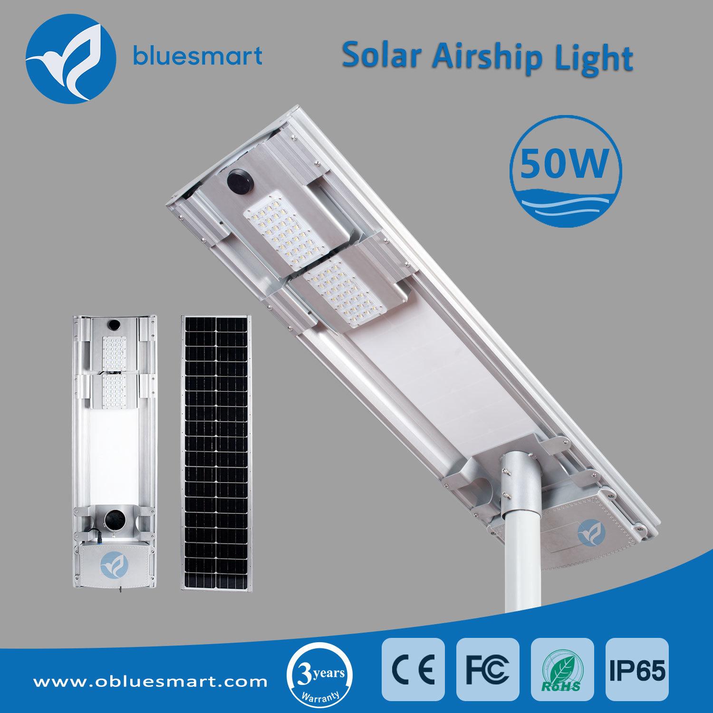 50W Solar Powerd Outdoor LED Street Lighting with 3 Years Warranty