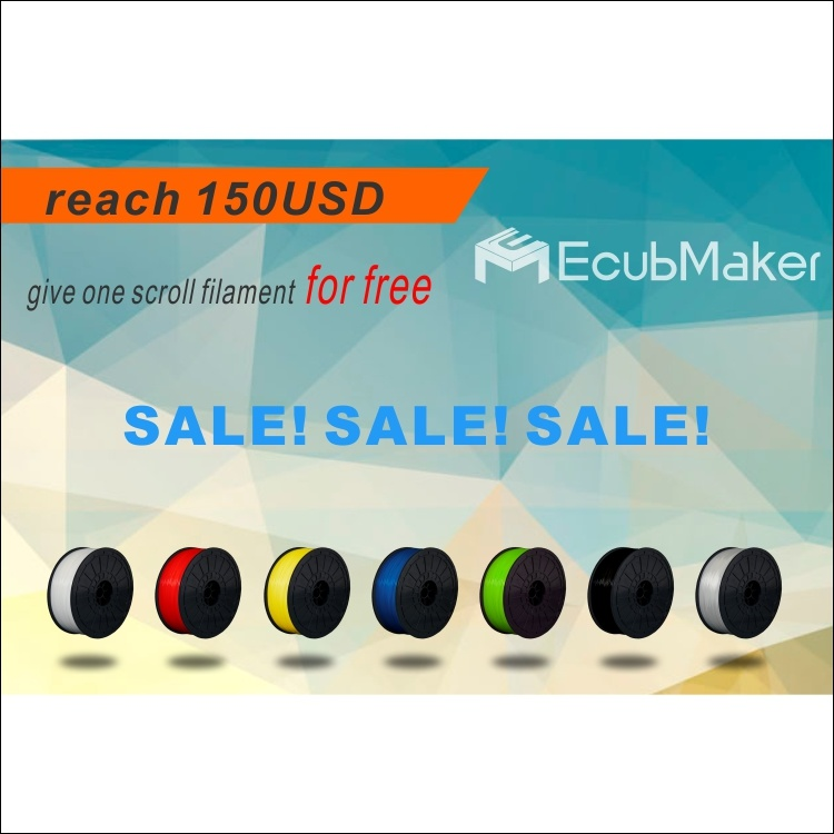Ecubmaker 1.75 mm, 1 Kg 3D Printer Filament PLA for 3D Printer