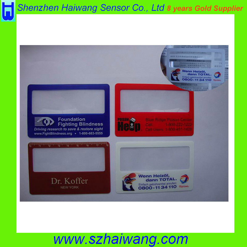 Plastic PVC Flexible Business Credit Card with Fresnel Lens Magnifier