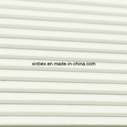 PVC White/Green Longitudinal Rib/Saw Tooth High Friction Conveyor Belt
