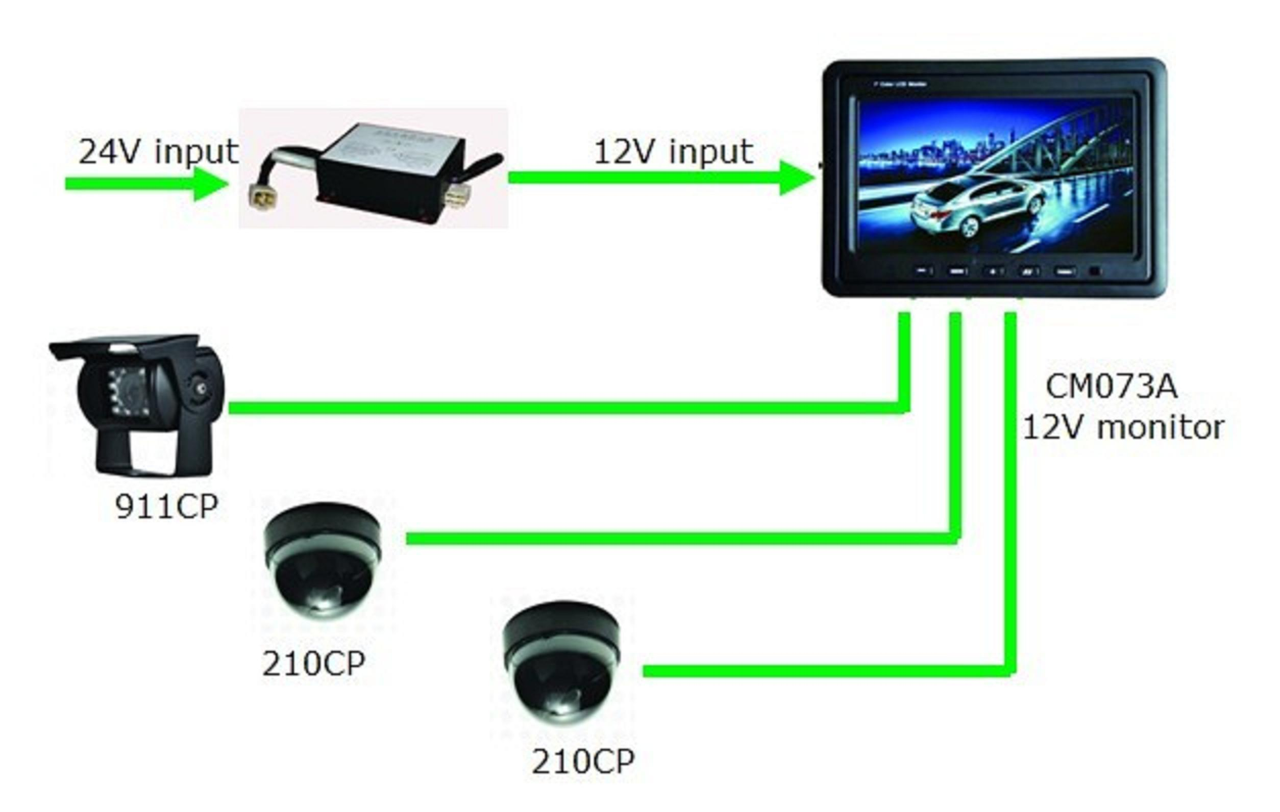 7 Inches Car Rear View Camera Parking Sensor