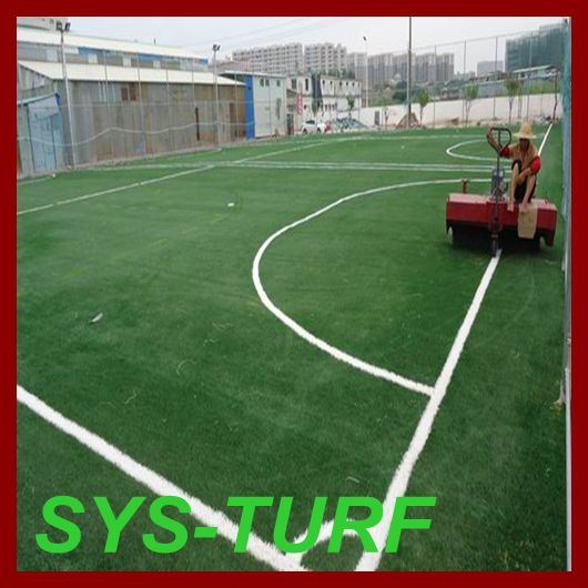 Football Soccer Monofilament Spine Shape Artificial Grass Lawn