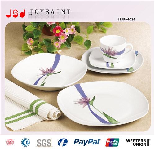 12PCS Square Shape Ceramic Dinnerware
