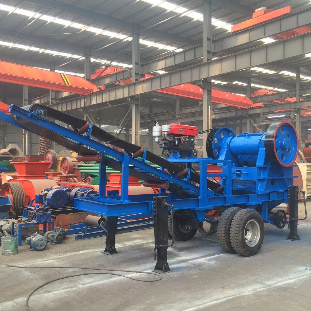 Flexible Popular Wheeled Crusher Move Jaw Crushing Plant/Mobile Stone Crushing Machine
