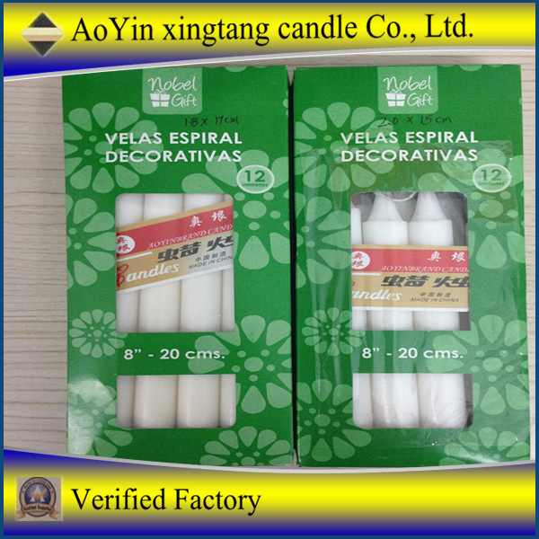 100% Paraffin Wax Cheap Stick White Candle Household Candle