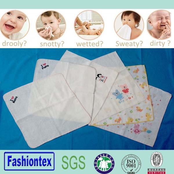 Muslin Suqare Handkerchief Toddler Wipe Wash Cloth Baby Nursing Towel Face Baby Towel