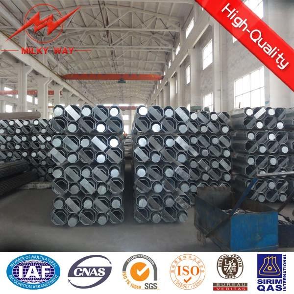 Bitumen Galvanized Steel Tubular Pole