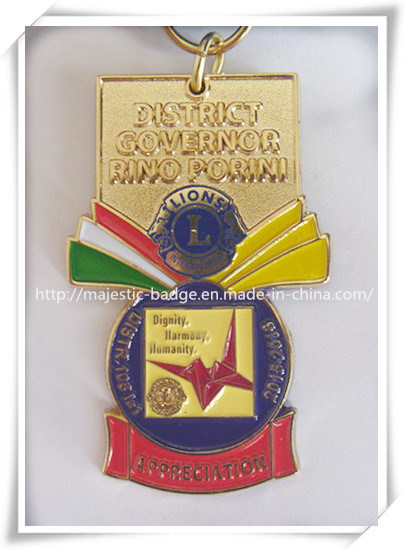 Soft Enamel Gold Plated Medal