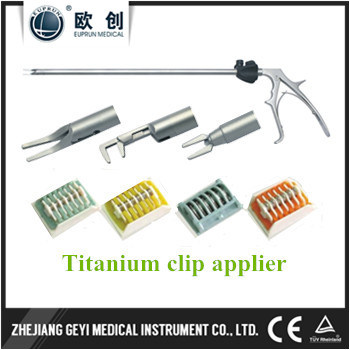 Factory Directly New 10X330mm Laparoscopic Double Action Lt300 Titanium Clip Applier