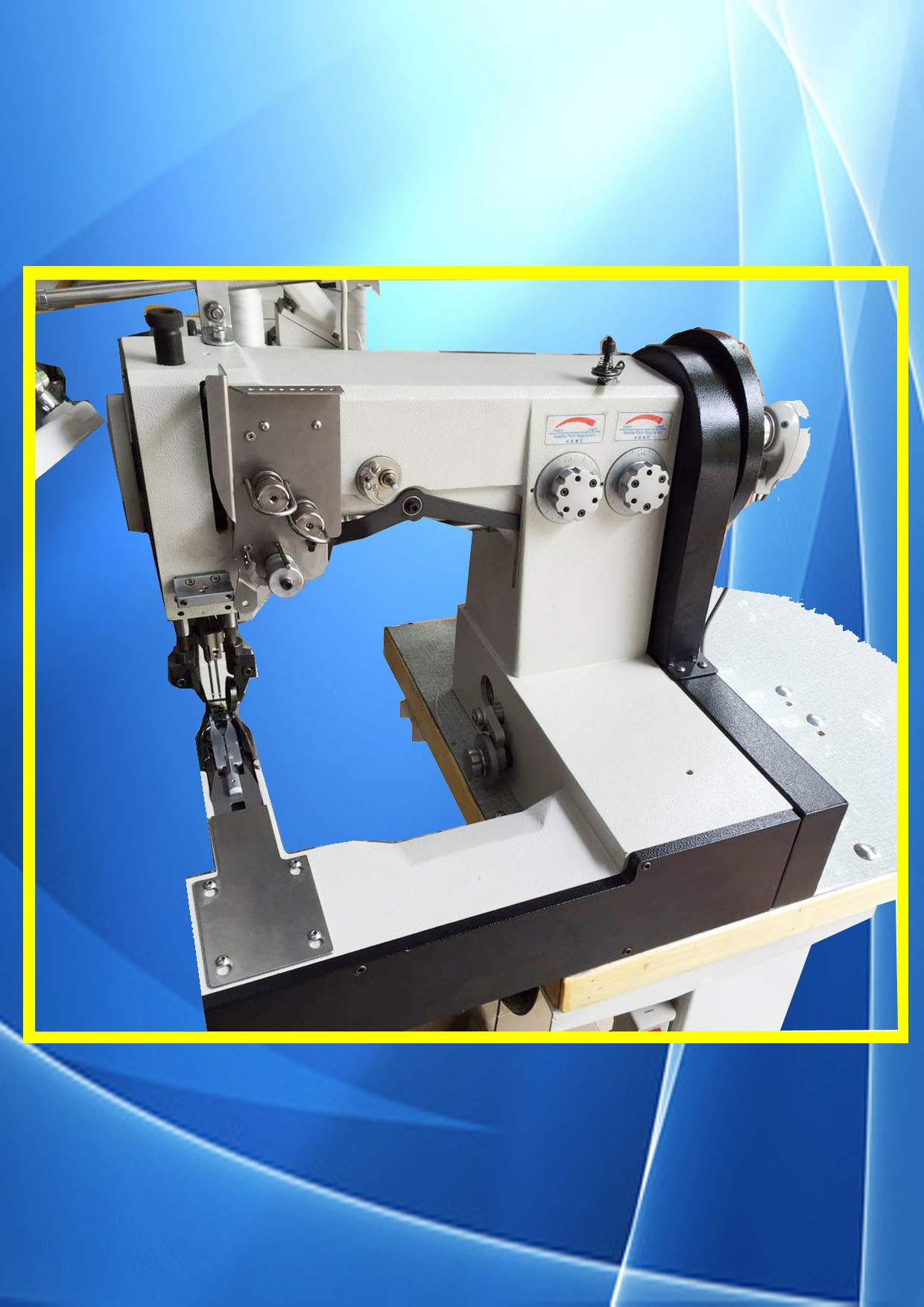 Double Needle Lock Stitch Computerized Shoe Upper Pattern Sewing Machine