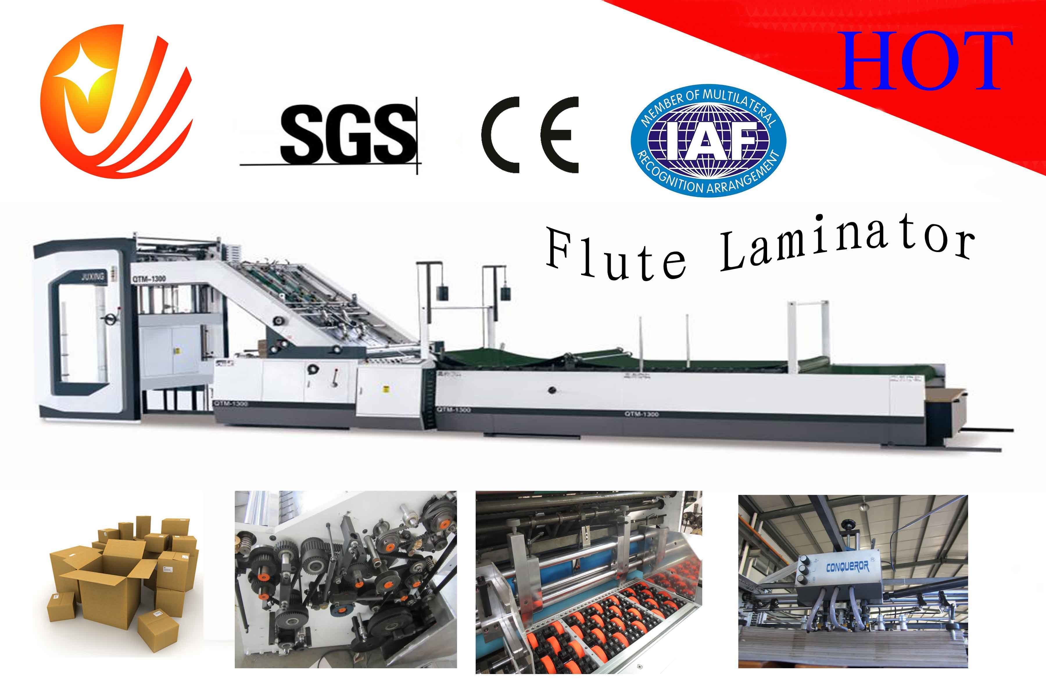 High Speed Servo Control Flute Laminating Machine
