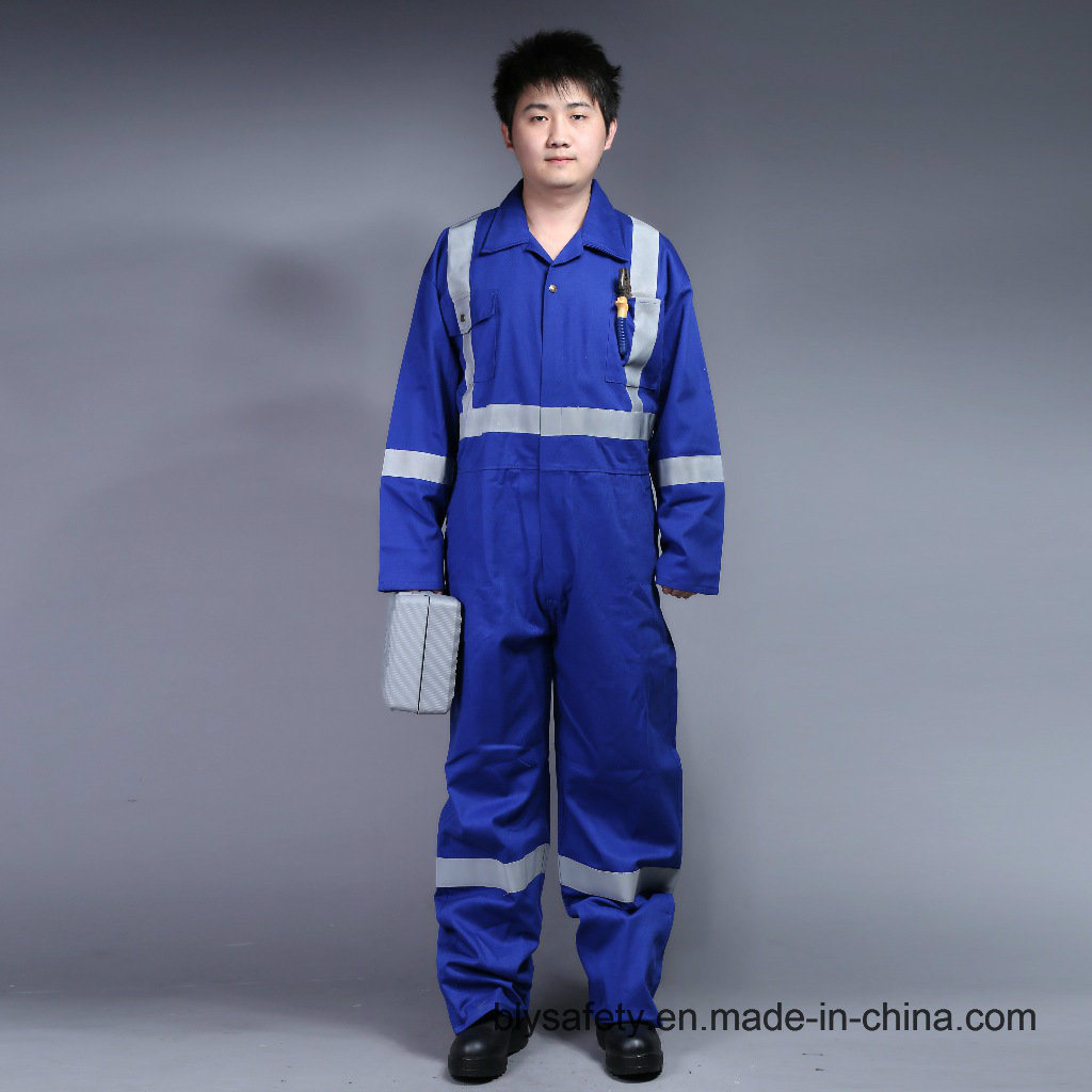 100% Cotton Proban Flame Retardant Safety Work Clothes with Reflective Tape